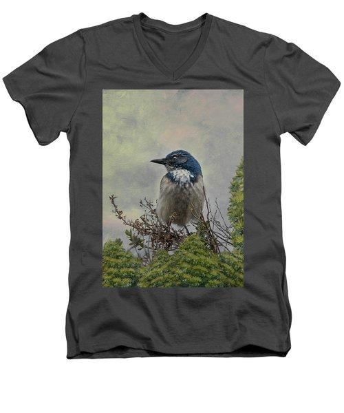 California Scrub Jay - Vertical Men's V-Neck T-Shirt