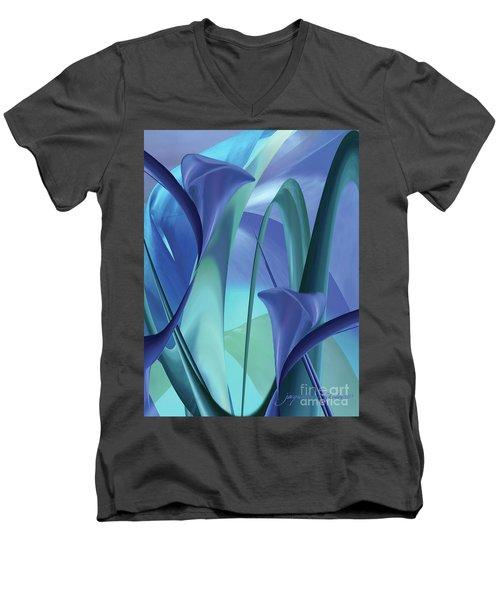 Calla Lilies Men's V-Neck T-Shirt