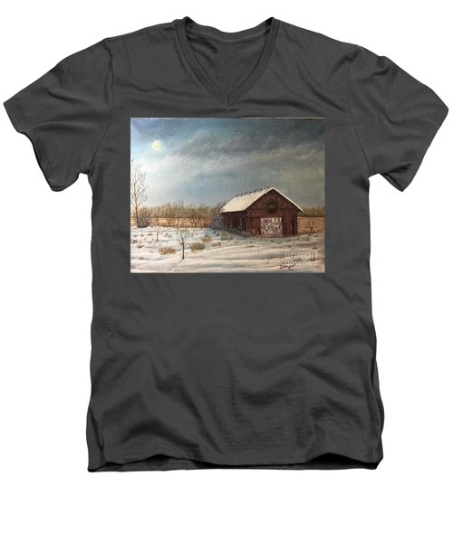 Cambridge Christmas Men's V-Neck T-Shirt