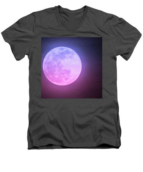Cancer Super Wolf Blood Moon Near Eclipse Men's V-Neck T-Shirt
