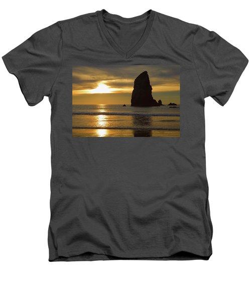 Cannon Beach November Evening Men's V-Neck T-Shirt