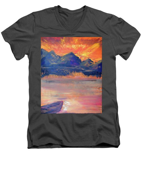 Canoe Trips Men's V-Neck T-Shirt