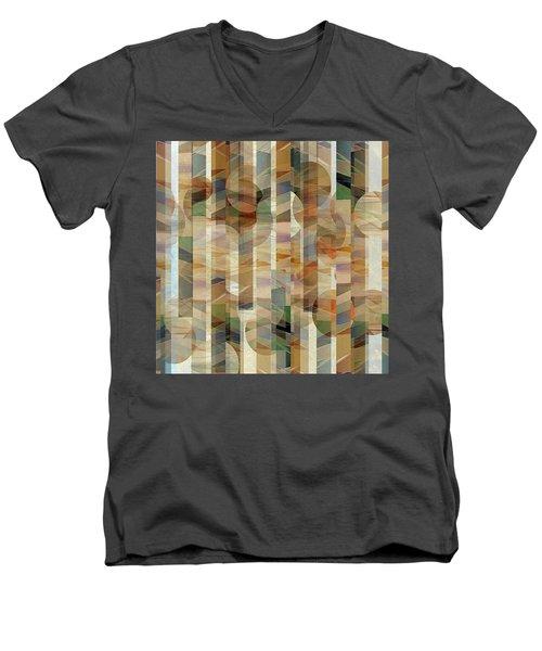 Canyon Circles And Stripes Men's V-Neck T-Shirt