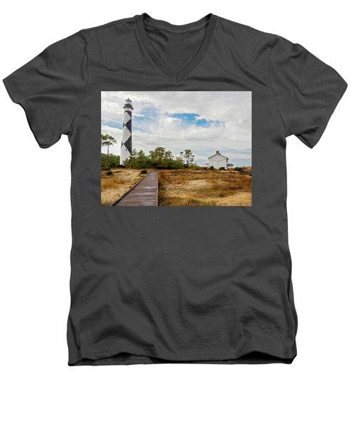 Cape Lookout Lighthouse No. 2 Men's V-Neck T-Shirt