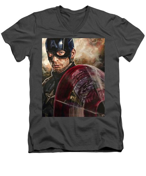 Captain America Men's V-Neck T-Shirt