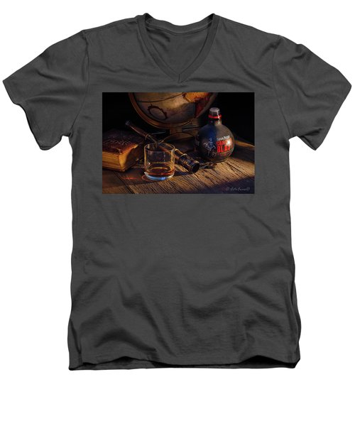 Captain Morgan Men's V-Neck T-Shirt