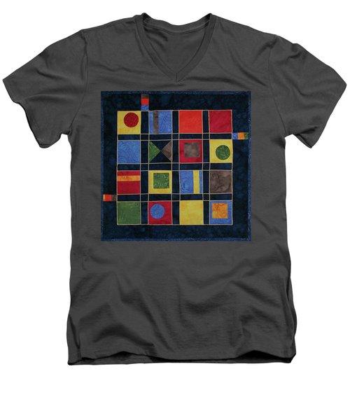 Carnival Of Colors Men's V-Neck T-Shirt