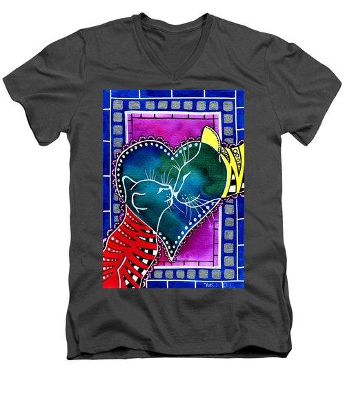 Cat Mom Love Men's V-Neck T-Shirt