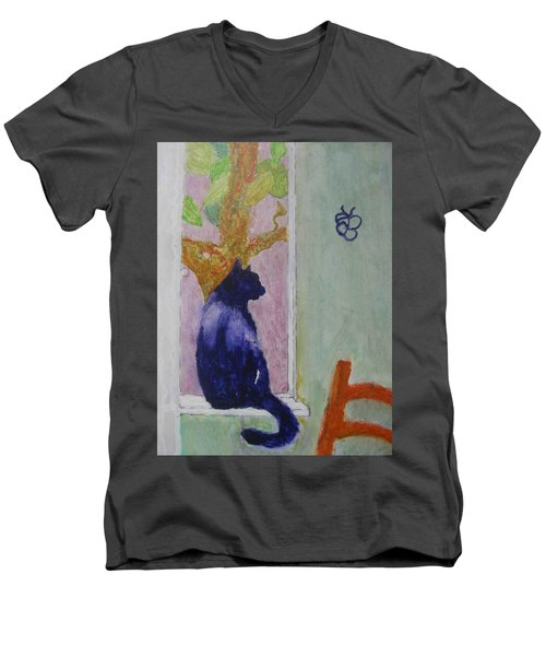 cat named Seamus Men's V-Neck T-Shirt