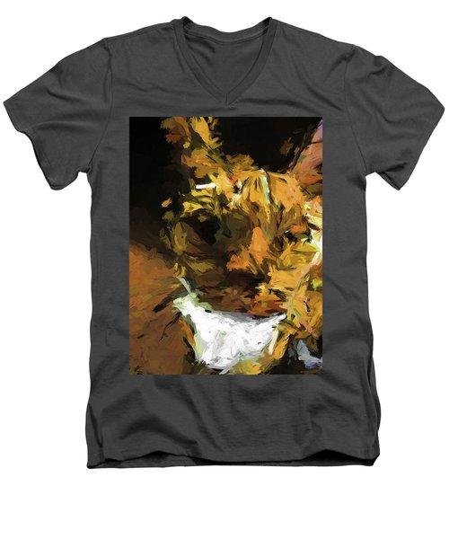 Cat Up Close Men's V-Neck T-Shirt