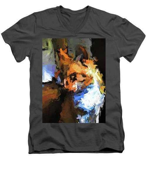 Cat With The Turned Head Men's V-Neck T-Shirt