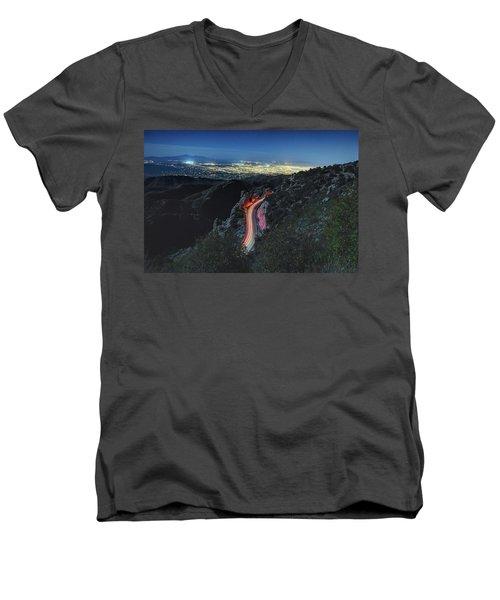 Catalina Highway Moonlight Men's V-Neck T-Shirt