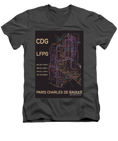 Cdg Paris Airport Men's V-Neck T-Shirt