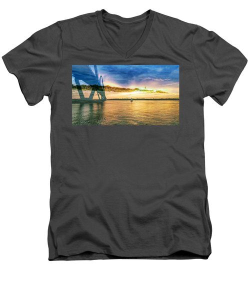 Charleston Harbor Sc Men's V-Neck T-Shirt
