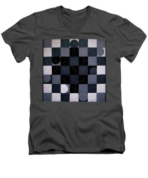 Checkers And Pick-up-sticks Men's V-Neck T-Shirt