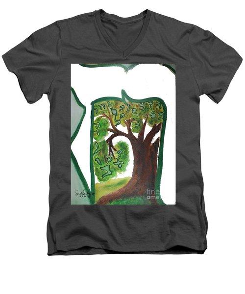 Chet, Tree Of Life  Ab21 Men's V-Neck T-Shirt