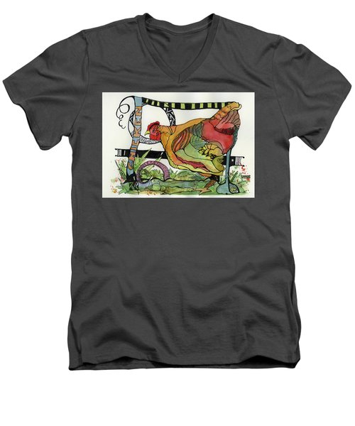Chicken Men's V-Neck T-Shirt
