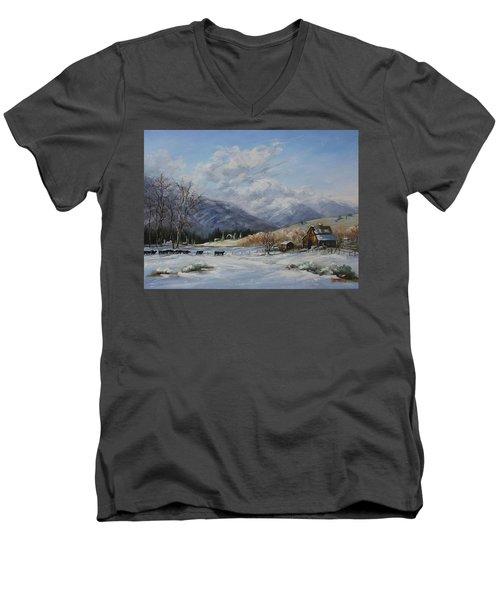 Chow Line Men's V-Neck T-Shirt
