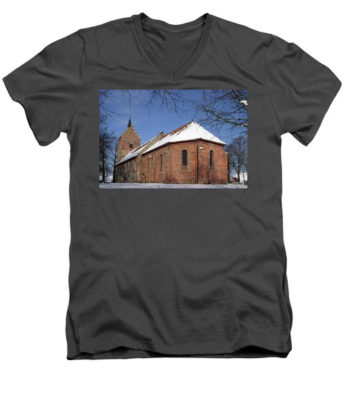 Men's V-Neck T-Shirt featuring the photograph Church In Europe by Rick Veldman