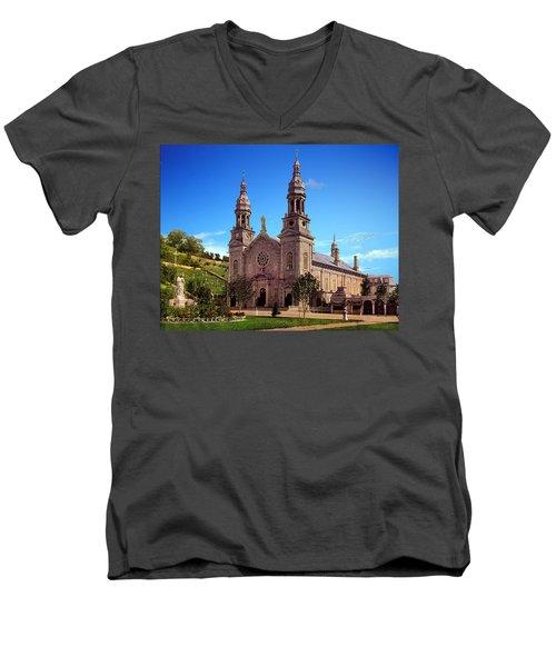 Church Of Ste Anne De Beaupre Men's V-Neck T-Shirt