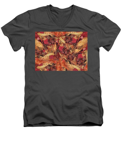 Men's V-Neck T-Shirt featuring the photograph Cinnamon Potpourri by Rockin Docks