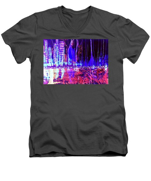 City By The Sea Right Men's V-Neck T-Shirt