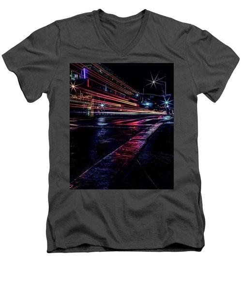 City Streaks Men's V-Neck T-Shirt