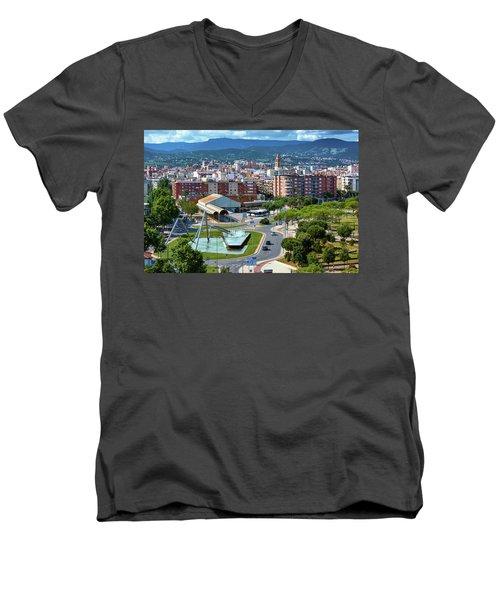 Cityscape In Reus, Spain Men's V-Neck T-Shirt