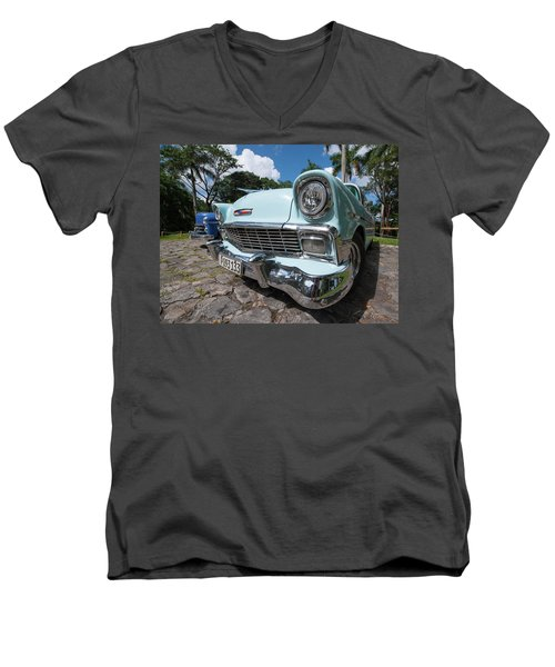 Classic Cuban Chevy Men's V-Neck T-Shirt