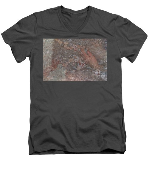Men's V-Neck T-Shirt featuring the digital art Classic Fragment by Attila Meszlenyi