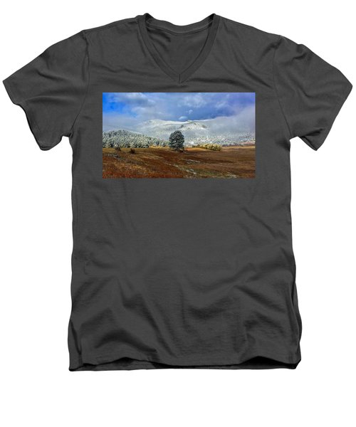 Men's V-Neck T-Shirt featuring the photograph Clearing Storm by Dan Miller