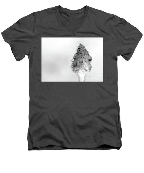 Clematis Bud In Rain Men's V-Neck T-Shirt