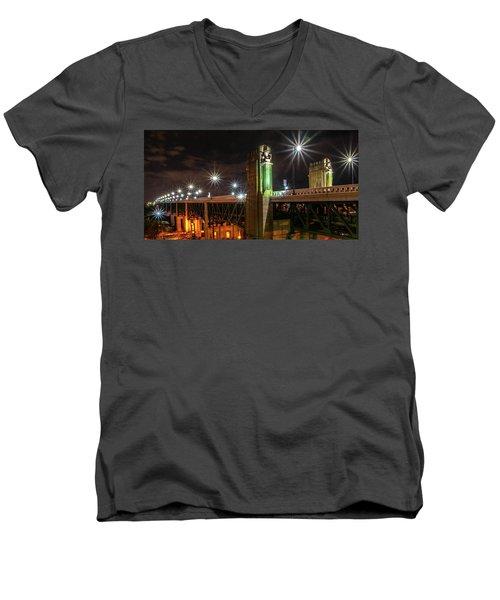 Cleveland Lights  Men's V-Neck T-Shirt