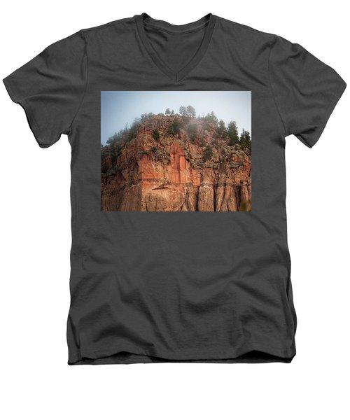 Cliff Face Hz Men's V-Neck T-Shirt