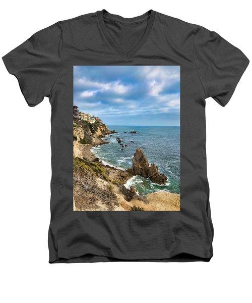 Cliffs Of Corona Del  Mar Men's V-Neck T-Shirt