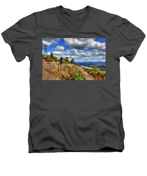 Men's V-Neck T-Shirt featuring the photograph Close To Heaven On Earth by David Patterson