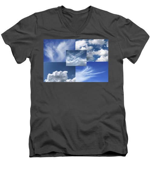 Cloud Collage Two Men's V-Neck T-Shirt
