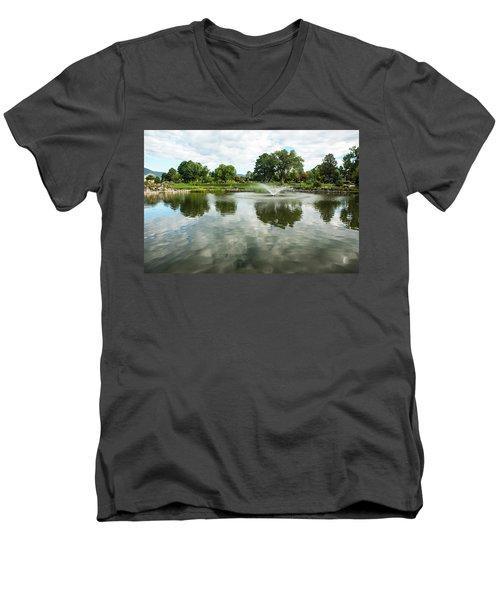 Clouds On Ashley Pond Men's V-Neck T-Shirt