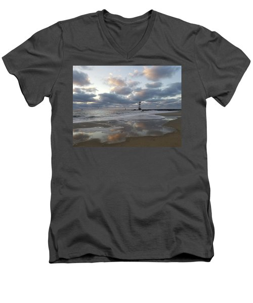 Cloud's Reflections At The Inlet Men's V-Neck T-Shirt