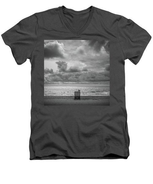 Cloudy Morning Rough Waves Men's V-Neck T-Shirt