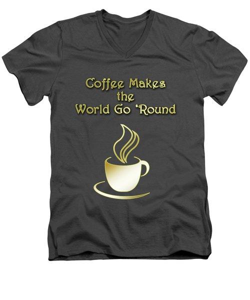 Coffee Aroma Men's V-Neck T-Shirt