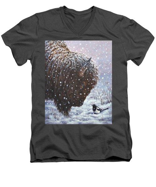 Cold Weather Cohorts Men's V-Neck T-Shirt