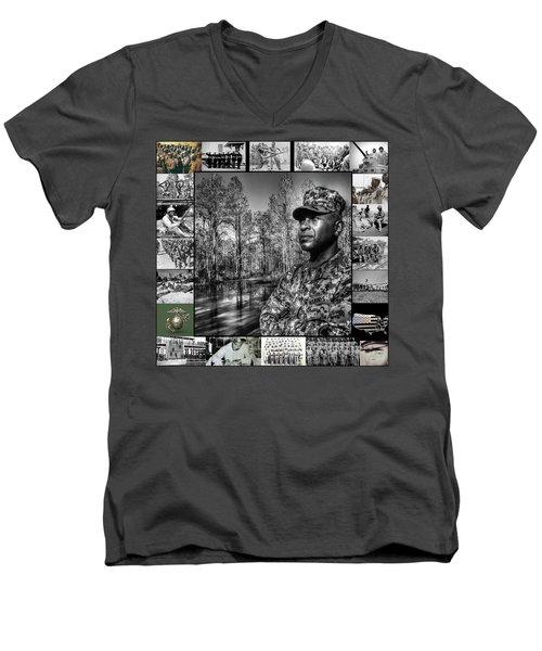Colonel Trimble Collage Men's V-Neck T-Shirt