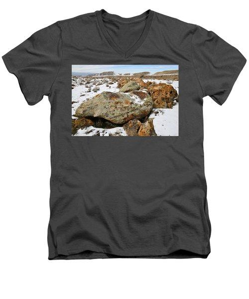 Color In The Book Cliff Desert Men's V-Neck T-Shirt