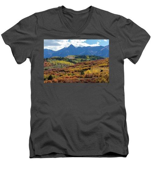 Men's V-Neck T-Shirt featuring the photograph Colorado Color Bonanza by James BO Insogna