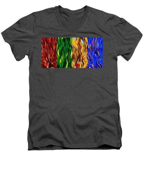 Colored Fire Men's V-Neck T-Shirt