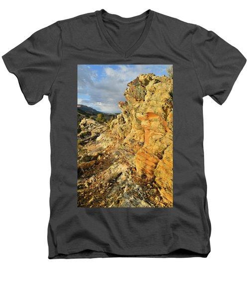 Colorful Entrance To Colorado National Monument Men's V-Neck T-Shirt