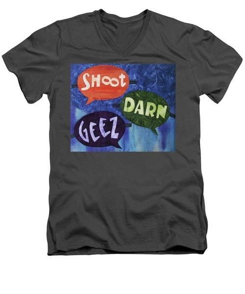 Colorful Language Men's V-Neck T-Shirt