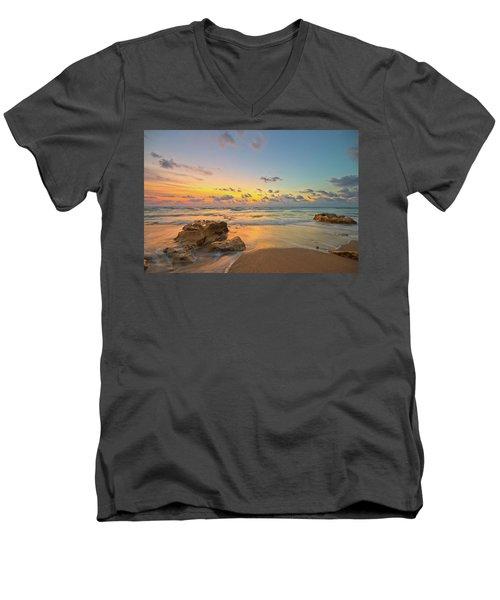 Colorful Seascape Men's V-Neck T-Shirt