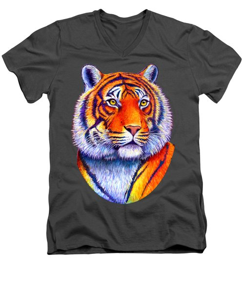Colorful Tiger Men's V-Neck T-Shirt